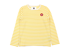 Wood Wood blouse Kim off-white/yellow stripes
